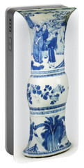 Blue  Chinese Chinoiserie Pottery Vase No 3 Portable Battery Charger