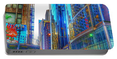 Blue Cityscape Portable Battery Charger