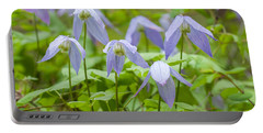 Portable Battery Charger featuring the photograph Blue Clematis by Fran Riley