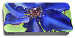 Blue Clematis Portable Battery Charger