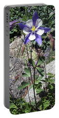 Blue Columbine Colorado Mountains Portable Battery Charger
