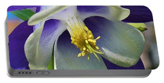 Blue Columbine Up Close 1 Portable Battery Charger