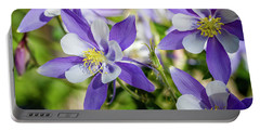 Blue Columbine Wildflowers Portable Battery Charger