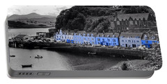 Blue Cottages At Portree Harbour 5 Portable Battery Charger