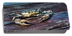 Blue Crab - Above View Portable Battery Charger
