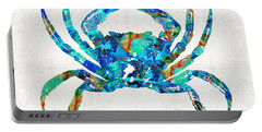 Blue Crab Art By Sharon Cummings Portable Battery Charger