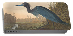 Blue Crane Or Heron Portable Battery Charger