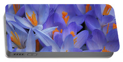 Blue Crocuses Portable Battery Charger