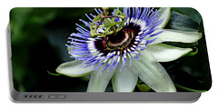 Blue Crown Passion Flower Portable Battery Charger
