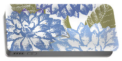 Blue Dahlias Portable Battery Charger
