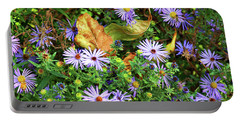 Blue Daisy Dance Portable Battery Charger