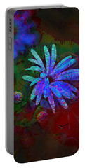 Portable Battery Charger featuring the photograph Blue Daisy by Lori Seaman