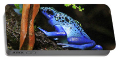 Blue Dart Frog Portable Battery Charger