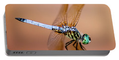 Blue Dasher Dragonfly Portable Battery Charger by Betty LaRue