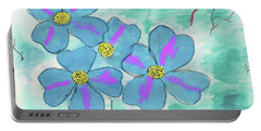 Portable Battery Charger featuring the painting Blue by David Jackson