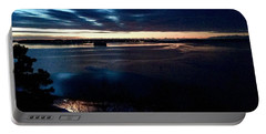 Blue Dawn On Casco Bay Portable Battery Charger