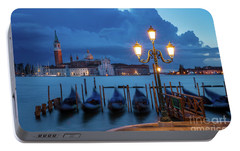 Portable Battery Charger featuring the photograph Blue Dawn Over Venice by Brian Jannsen