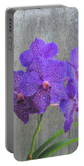 Purple Dendrobium Orchids Portable Battery Charger by Rosalie Scanlon