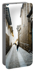 Blue Door In Cusco Portable Battery Charger by Darcy Michaelchuk