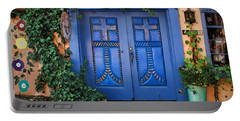 Blue Doors - Old Town - Albuquerque Portable Battery Charger