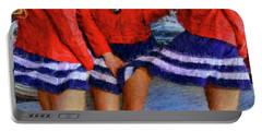 Blue Dress Breeze Portable Battery Charger