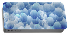 Portable Battery Charger featuring the photograph Blue Eggs - Abstract Background by Michal Boubin