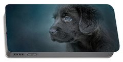 Blue Eyed Puppy Portable Battery Charger by Jai Johnson