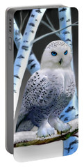 Blue-eyed Snow Owl Portable Battery Charger