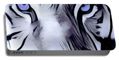 Blue Eyed Tiger Portable Battery Charger