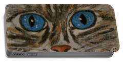 Blue Eyed Tiger Cat Portable Battery Charger