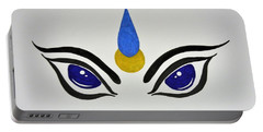 Blue Eyes Portable Battery Charger by Kruti Shah