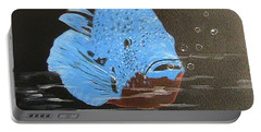 Blue Fish Portable Battery Charger by Catherine Swerediuk