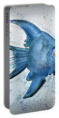 Portable Battery Charger featuring the photograph Blue Fish by Walt Foegelle
