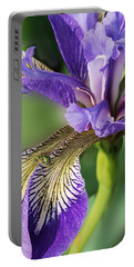 Portable Battery Charger featuring the photograph Blue Flag  by Susan Capuano