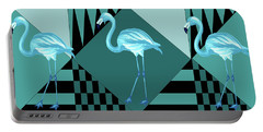Blue Flamingo Portable Battery Charger