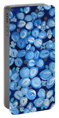 Blue Floral Frenzy Portable Battery Charger