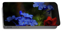 Blue Flowers Growing Up The Apple Tree Portable Battery Charger