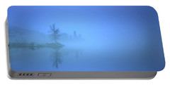 Portable Battery Charger featuring the photograph Blue Fog At Skaha Lake by Tara Turner