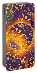 Portable Battery Charger featuring the digital art Blue Galaxy by Lynda Lehmann