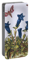 Blue Gentian  Trumpet Flower  Portable Battery Charger by Pierre-Joseph Buchoz