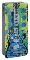 Blue Gibson Guitar Portable Battery Charger
