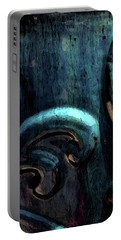Blue Glazed Vessel Detail Digital Painting 2365 Dp_2 Portable Battery Charger