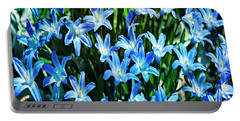 Blue Glory Snow Flowers  Portable Battery Charger
