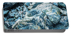 Portable Battery Charger featuring the photograph Blue Gnome Rock by Daniel Hebard