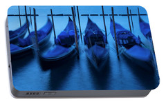 Portable Battery Charger featuring the photograph Blue Gondolas by Brian Jannsen