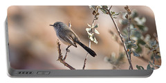 Portable Battery Charger featuring the photograph Black-tailed Gnatcatcher by Dan McManus
