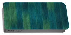 Blue Green Abstract 1 Portable Battery Charger