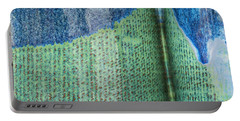 Blue/green Abstract Portable Battery Charger