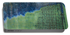 Blue/green Abstract Two Portable Battery Charger