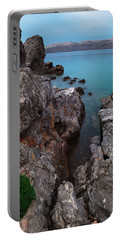 Portable Battery Charger featuring the photograph Blue, Green, Gray by Davor Zerjav